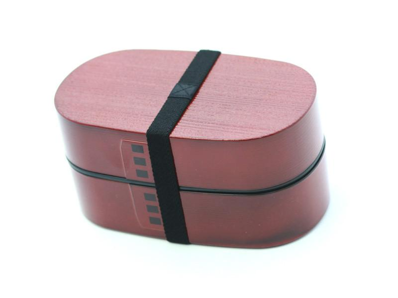 Nuri Wappa Wood Tone Bento Box | Red by Hakoya - Bento&co Japanese Bento Lunch Boxes and Kitchenware Specialists