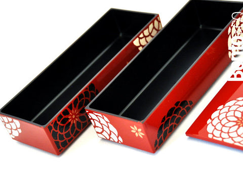 Ojyu Bento Long | Red by Hakoya - Bento&co Japanese Bento Lunch Boxes and Kitchenware Specialists