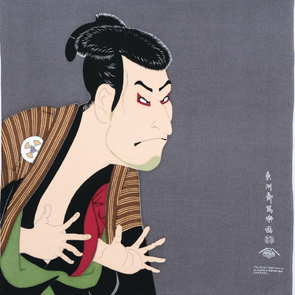 Sharaku Ukiyo-e Furoshiki Rayon | The Actor Otani Oniji III as Edobe
