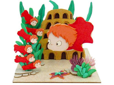 Miniatuart | Ponyo on the Cliff by the Sea: Ponyo and Her Sisters by Sankei - Bento&co Japanese Bento Lunch Boxes and Kitchenware Specialists