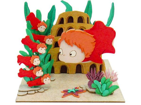 Miniatuart | Ponyo on the Cliff by the Sea: Ponyo and Sisters