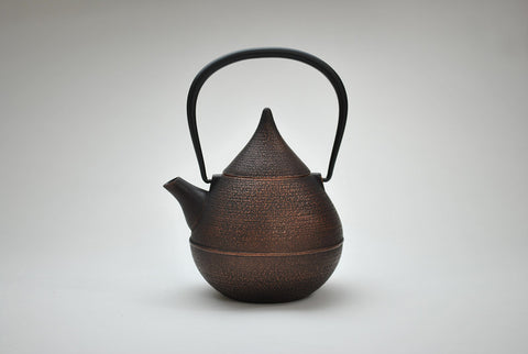 Enamel Waterdrop Teapot | Burnished Copper