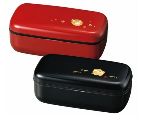 Usagi Slim One Tier Bento Box Black by Hakoya - Bento&co Japanese Bento Lunch Boxes and Kitchenware Specialists