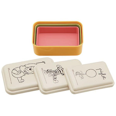 Winnie the Pooh Sketch Three Piece Bento Set | Yellow by Skater - Bento&co Japanese Bento Lunch Boxes and Kitchenware Specialists