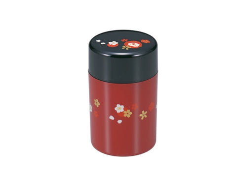 Tea Box Snow Usagi | Large red by Hakoya - Bento&co Japanese Bento Lunch Boxes and Kitchenware Specialists