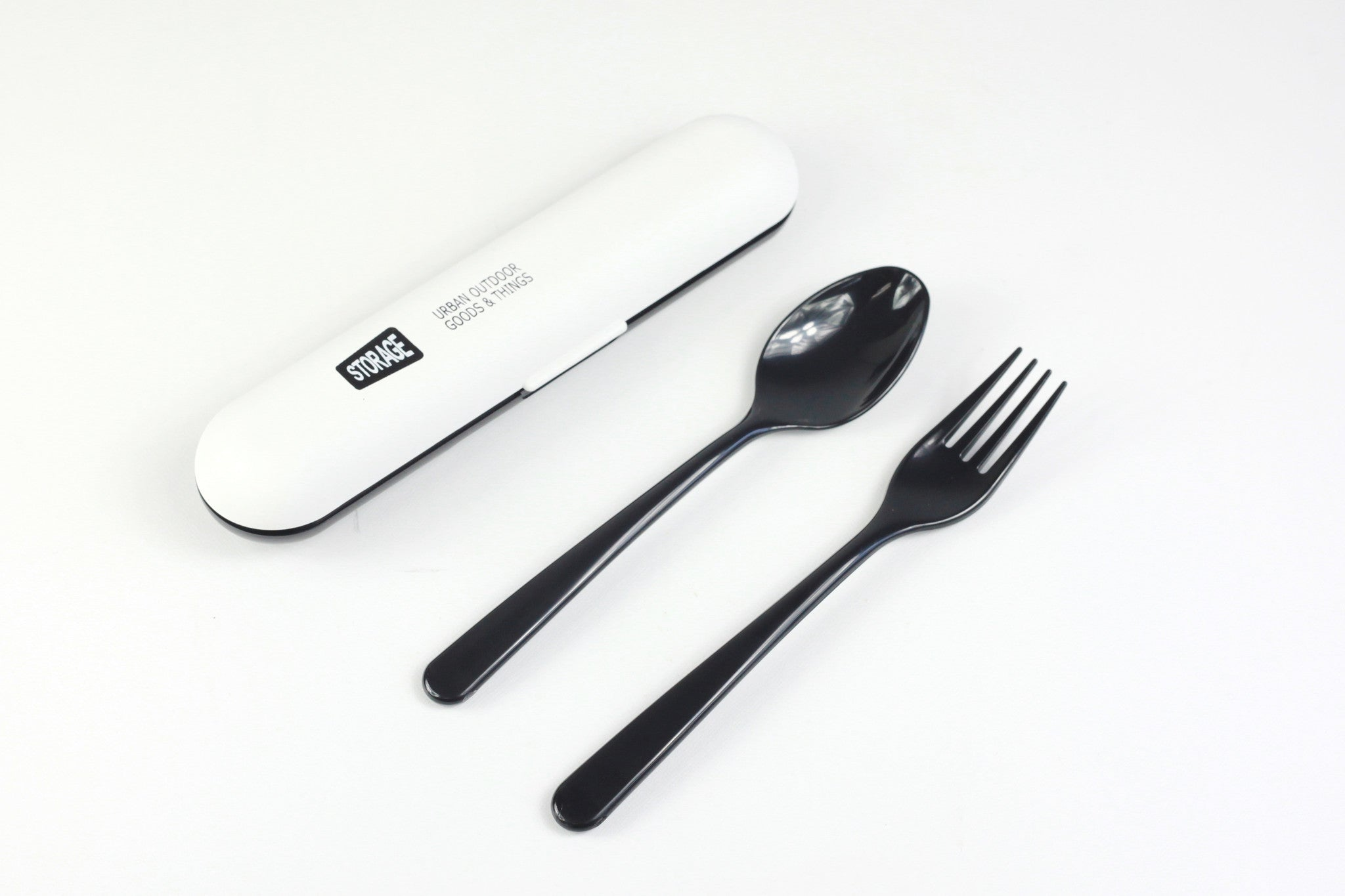 Storage Lunch Cutlery Set | White by Showa - Bento&co Japanese Bento Lunch Boxes and Kitchenware Specialists
