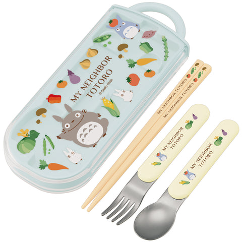 Totoro Slide Cutlery Trio Set | Vegetable