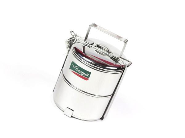 Seagull Tiffin Stainless Steel Lunch Box | Large by Noble Traders - Bento&co Japanese Bento Lunch Boxes and Kitchenware Specialists