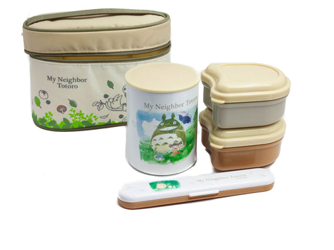 Totoro Thermal Lunch Set Ivory