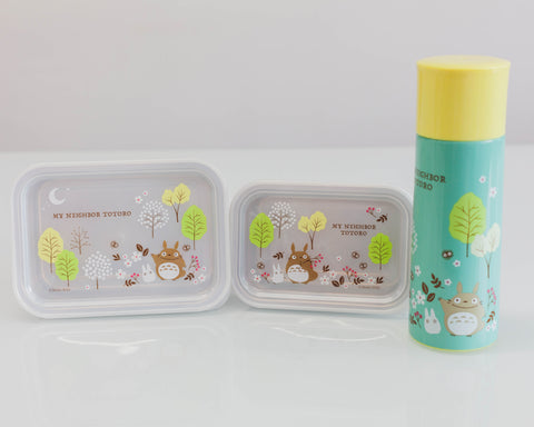 Totoro Field Stainless Steel Container 580ml by Skater - Bento&co Japanese Bento Lunch Boxes and Kitchenware Specialists