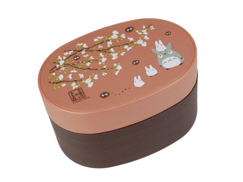 Totoro Mokume Bento Box | Oval by Skater - Bento&co Japanese Bento Lunch Boxes and Kitchenware Specialists