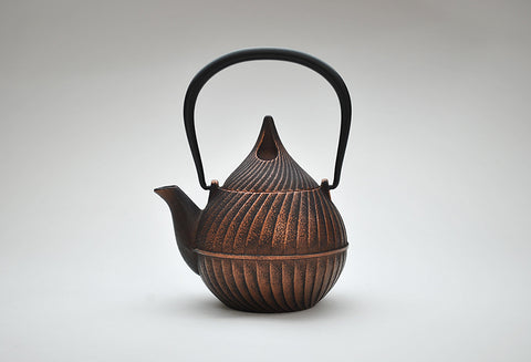 Enamel Tsubomi Teapot | Burnished Copper