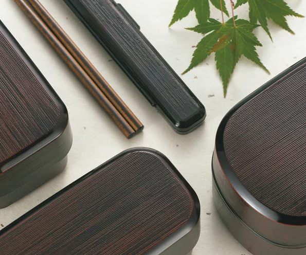 Yamato Stripe Slim Bento Box by Hakoya - Bento&co Japanese Bento Lunch Boxes and Kitchenware Specialists
