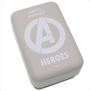 Avengers Two Tier Bento - Grey and White by Yaxell - Bento&co Japanese Bento Lunch Boxes and Kitchenware Specialists