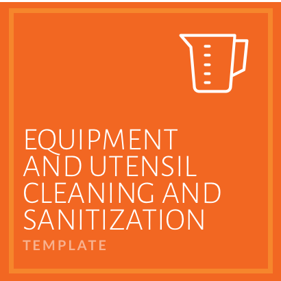 Equipment and Utensil Sanitation
