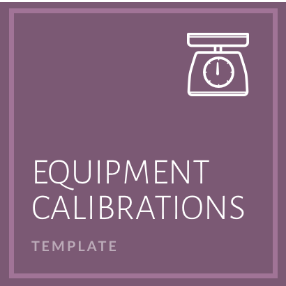 Equipment Calibrations