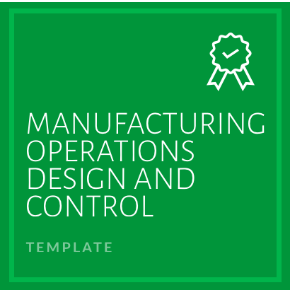 Manufacturing Operations Design and Control