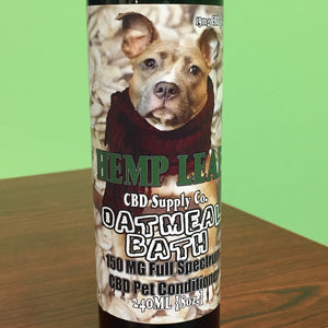 Hemp Leaf CBD Supply Co. Oatmeal Pet Conditioner 150MG Full Spectrum CBD