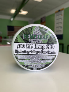 Hemp Leaf CBD Supply Co. Hydrating Collagen Face Cream (500MG)
