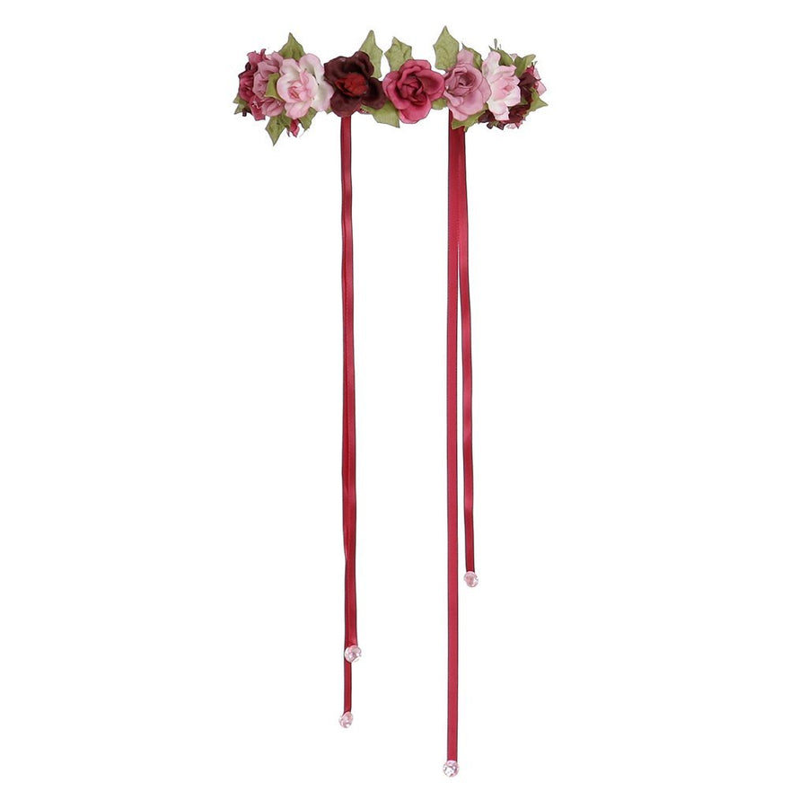 Pink or Lilac Adjustable Rose Garland Halo - Great Pretenders