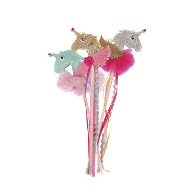 Pink and Gold 3D Unicorn Wand Assortment - Great Pretenders