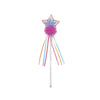 Multi Pastel and Hot Pink Glitter Rainbow Wand - Great Pretenders