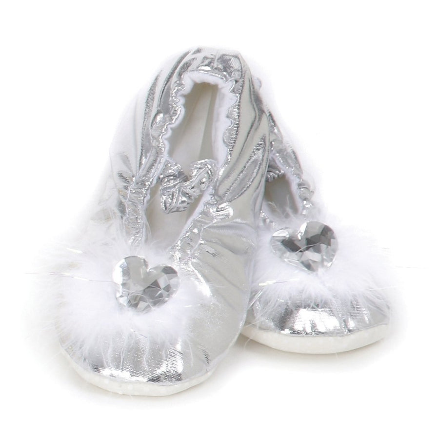 Silver Princess Slippers - Great Pretenders