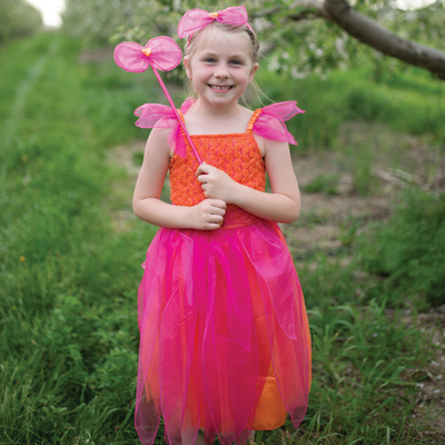 Pink & Orange Sunset Flower Fairy Set