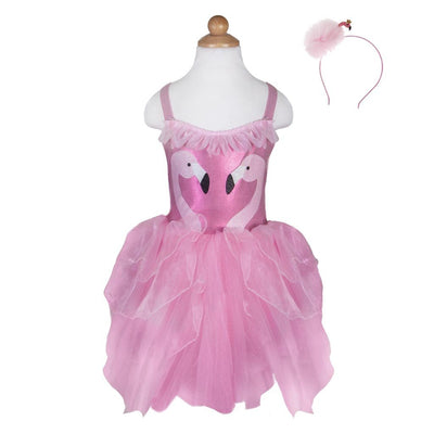 Fancy Flamingo Dress & Headband - Great Pretenders
