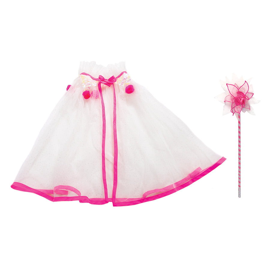 Whimsy White Capelet & Wand Set