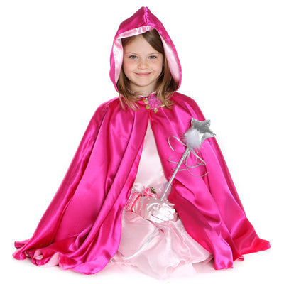 Light Pink Reversible Hooded Princess Cape
