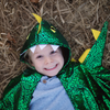 Green Metallic Toddler Dragon Cape