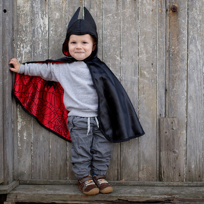 Baby Reversible Spider Bat Cape - Great Pretenders