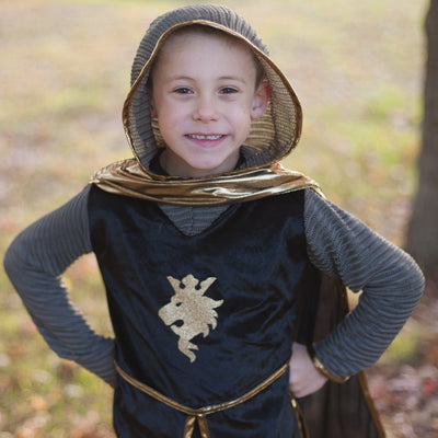 Knight Set Gold with Tunic, Cape and Crown