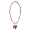 Flower Gem Bead Necklace - Great Pretenders