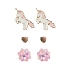 Boutique Unicorn Studded Earrings (3 Sets)
