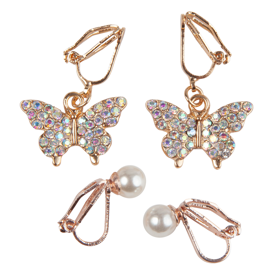 Boutique Butterfly Clip On Earring (2 sets)