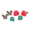 Boutique Rose Studded Earrings