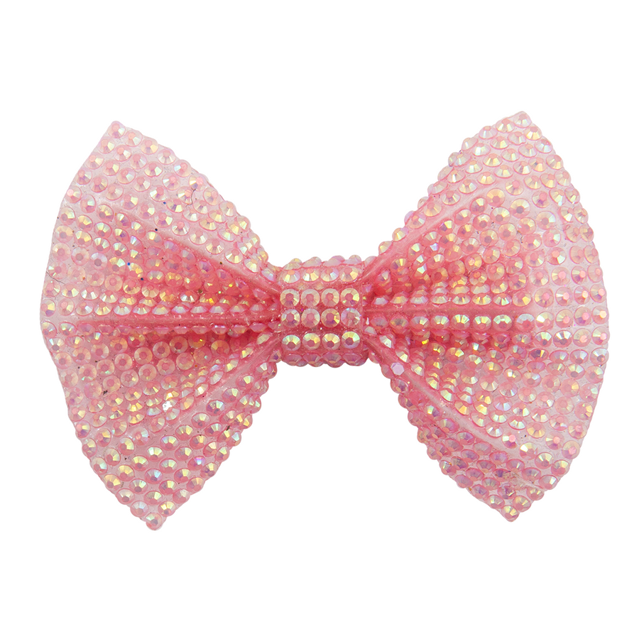 Boutique Pink Gem Bow Hairclip
