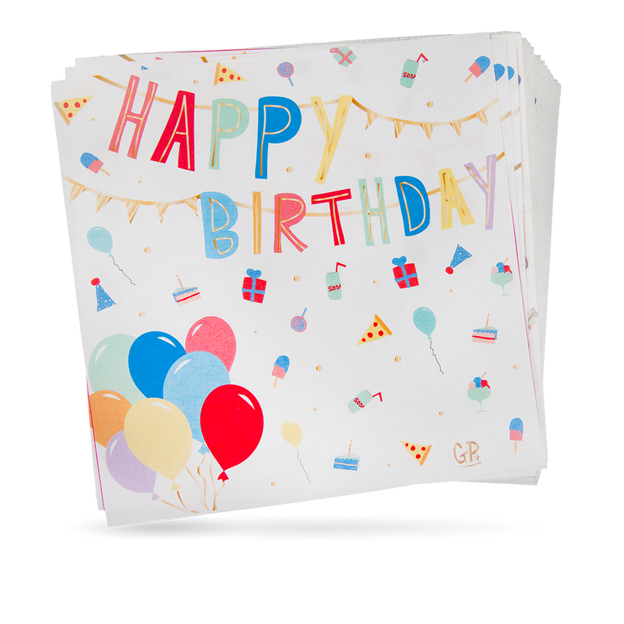 Napkins - Happy Birthday (20 pcs)