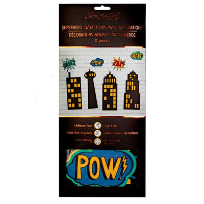 Static Cling Decorations - Party - bubbles and buildings (16 pcs)