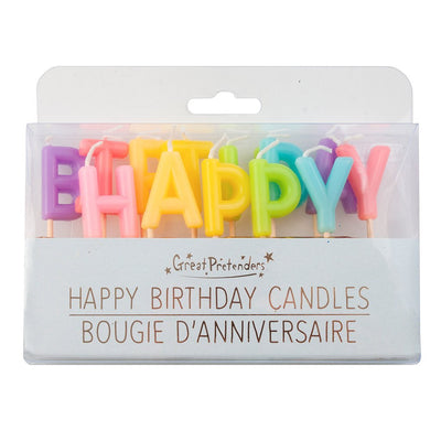 Candles - Rainbow - Happy Birthday (13pcs) - Great Pretenders