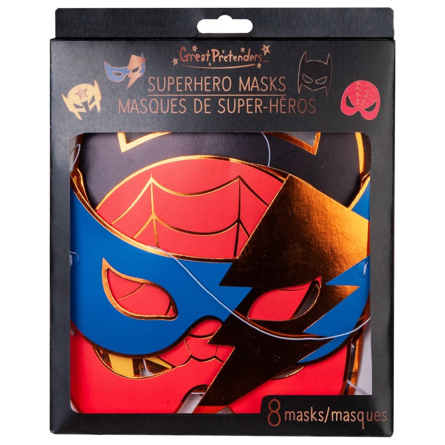 Masks - Party - Superhero (8 pcs)