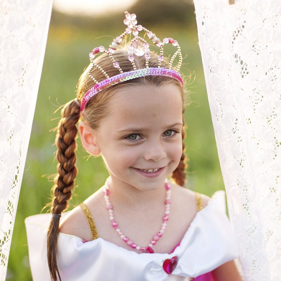 Pink & Gold Fairy Princess Tiara - Great Pretenders