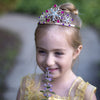 Bejewelled Tiara, Gold Metal Taira with Multi Gems - Great Pretenders