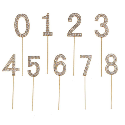 Rhinestone Cake Topper Numbers - Party