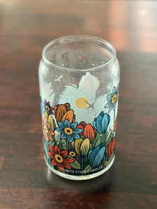Floral Glass - *EMPTY GLASS*