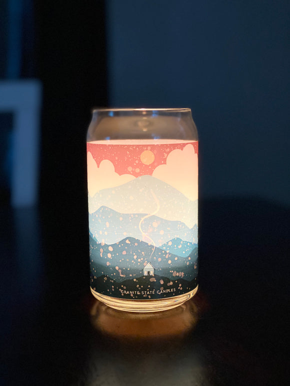 Mountain Canvas Candle - Evergreen
