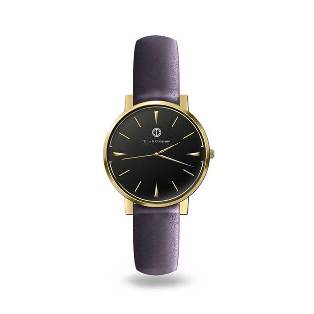 Today & Together Unisex Black/Black Wrist Watch - Time and Company