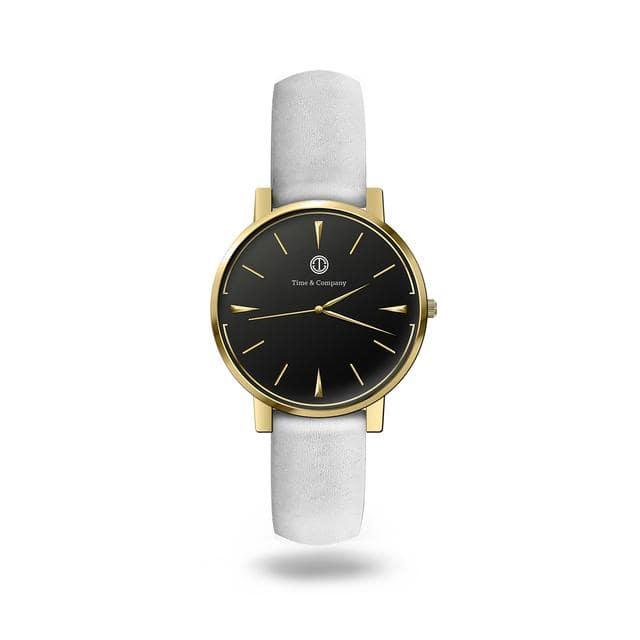 Forever & Eternity Unisex Black/White Wrist Watch - Time and Company